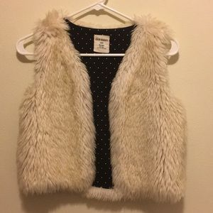 Old Navy faux fur vest.